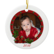 Babys First Christmas ornament traditional flowers ornament