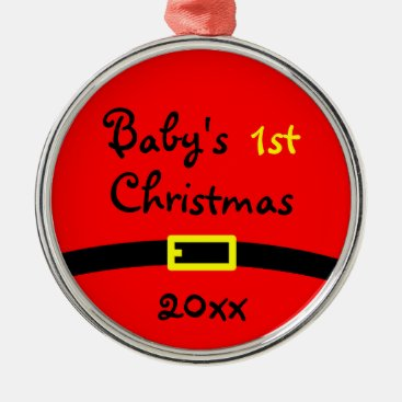 Toddler & Baby themed Baby's First Christmas Ornament With Year