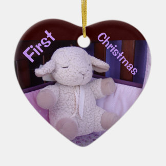 Baby's First Christmas ornaments Stuffed Lamb