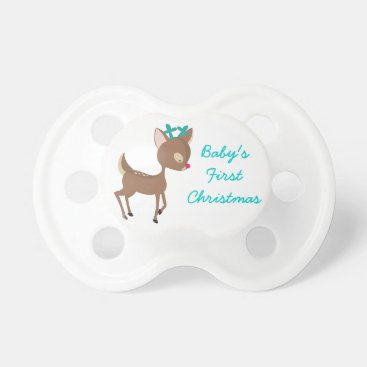 Toddler & Baby themed Baby's First Christmas Pacifier