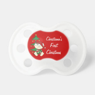 Baby's First Christmas/ Personalize Baby Name BooginHead Pacifier
