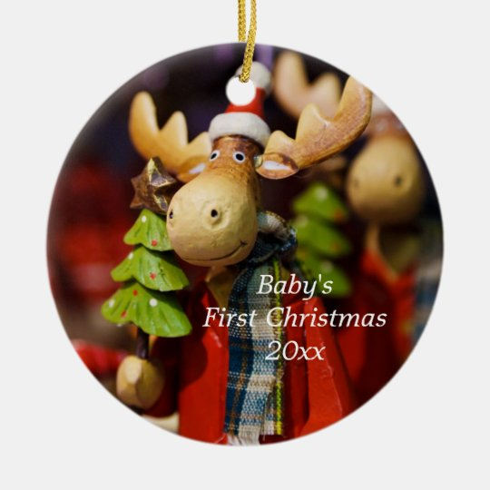 43dfba7e492 Baby s First Christmas Personalized Moose Ornament