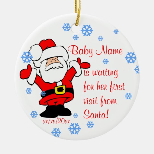 6243ba2af03 Baby s First Christmas Personalized Ornament