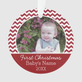 Baby's First Christmas Personalized Photo