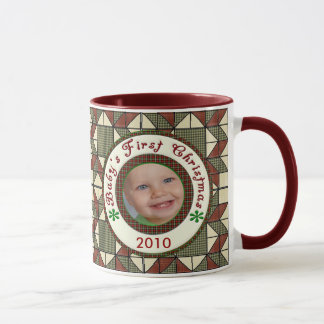 Babys First Christmas Personalized Photo Dated Mug