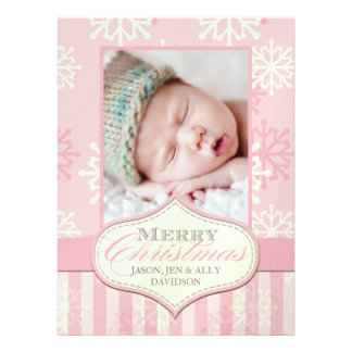 Baby's First Christmas Photo Cards Announcements