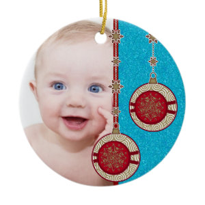 Baby's First Christmas Photo Christmas Ornament