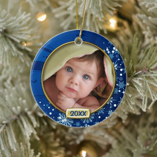 Baby S First Christmas Photo Frame Ceramic Ornament