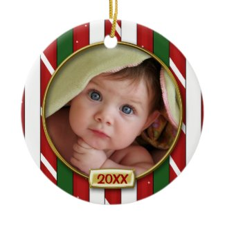 Baby's First Christmas Photo Frame Christmas Tree Ornament