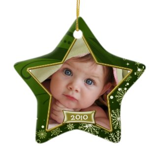 Baby's First Christmas Photo Frame Christmas Tree Ornament