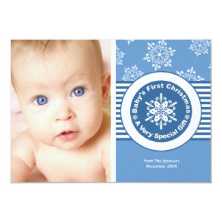 Baby's First Christmas Photo Holiday Card