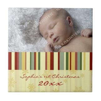 Baby's First Christmas Photo Keepsake Tile