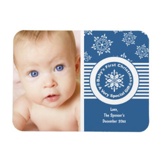 Baby's First Christmas Photo Magnet