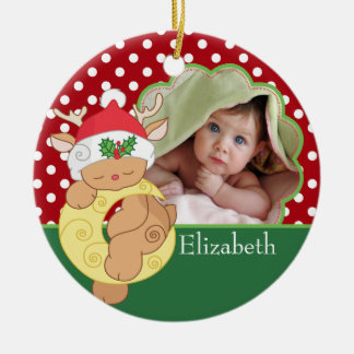 Baby's First Christmas Photo Ornament Deer