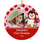 Babys First Christmas Photo Ornament Penguin ornament
