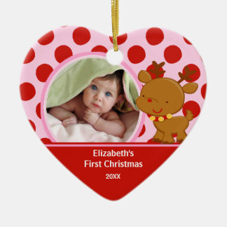 Baby's First Christmas Photo Ornament Reindeer