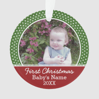 Baby's First Christmas Photo - Red and Green