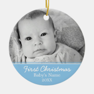 Baby's First Christmas Photo - Single Sided Christmas Tree Ornament