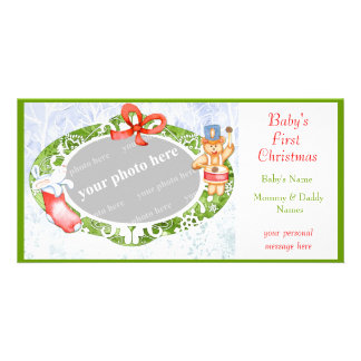 Baby's First Christmas Photo Card