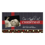 Baby's First Christmas Photocard Personalized Photo Card
