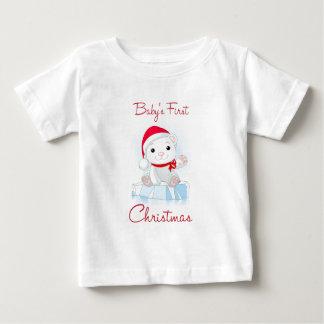 Baby's First Christmas Polar Bear Baby T-Shirt