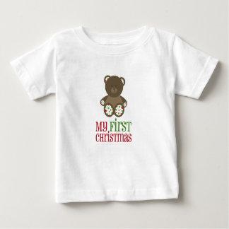 Baby's First Christmas Polka Dot Bear Shirt