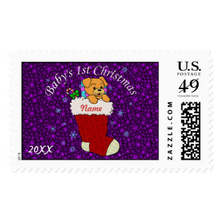 Baby's First christmas Postage Stamps