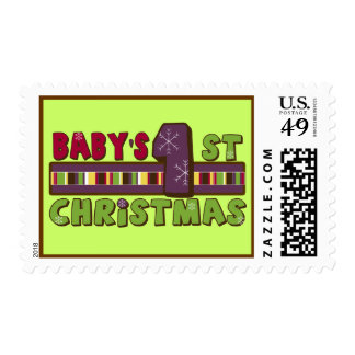 Baby's First Christmas Postage Stamp