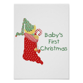 Baby's First Christmas Poster