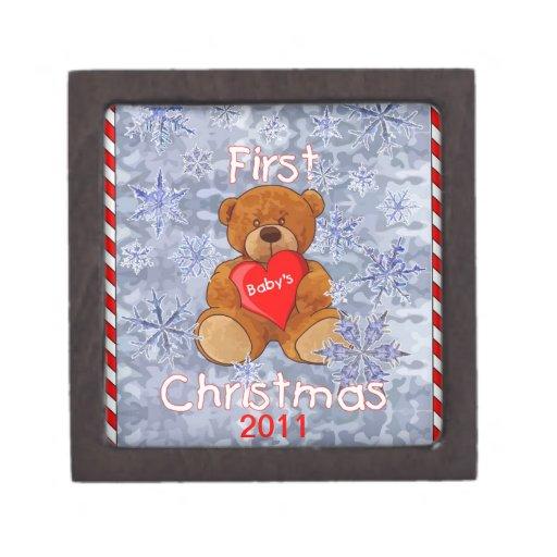 Baby's First Christmas Premium Keepsake Boxes