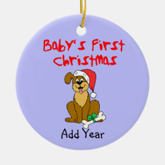 Baby's First Christmas Puppy Dog Ceramic Ornament