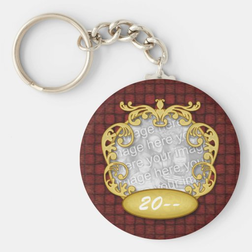 Baby's First Christmas Red Custom Photo Keychains