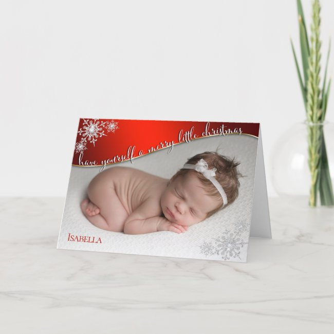 Baby's First Christmas Red - YOUR BABY'S PHOTO