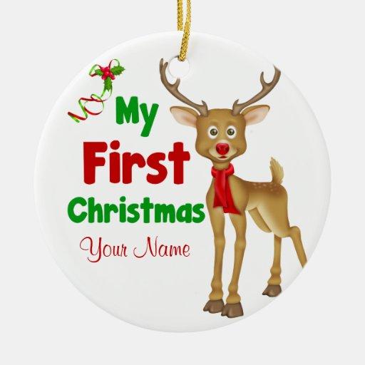 Babys First Christmas Reindeer Ornament