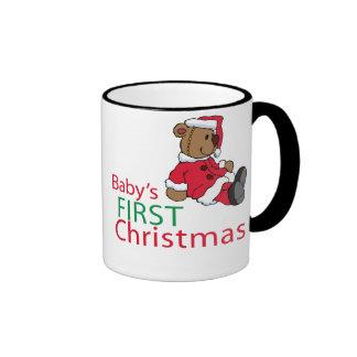 Baby's First Christmas Ringer Mug
