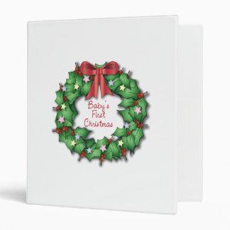 Baby's First Christmas Scrapbook Vinyl Binders