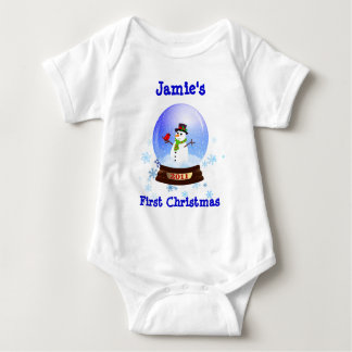Baby's First Christmas Snowglobe T-shirt 2011