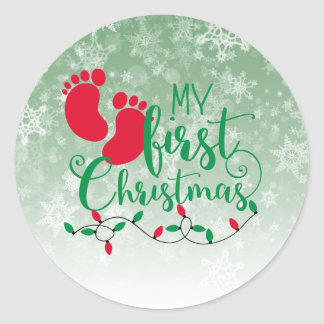 Baby's First Christmas Sticker
