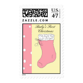 Baby's First Christmas Stocking Postage