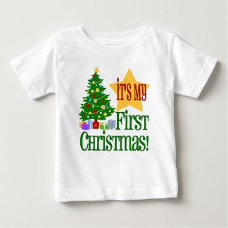 Babys First Christmas T-shirt