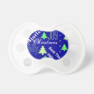 Baby's first christmas tree decorations pacifier
