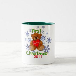 Baby's First Christmas Two-Tone Coffee Mug