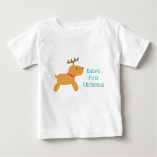 Baby's First Christmas with Cute Reindeer T-shirts