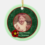 Baby's First Dated Photo Ornament grm
