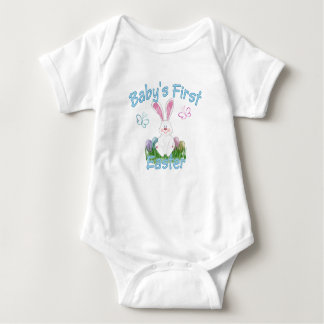 Baby's First Easter (blue) Baby Bodysuit