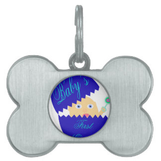 Baby's First Easter-Blue Pet ID Tag