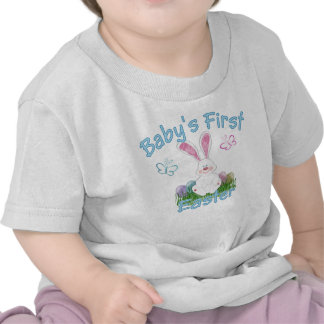 Baby's First Easter (blue) T-shirts
