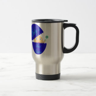 Baby's First Easter-Blue Travel Mug