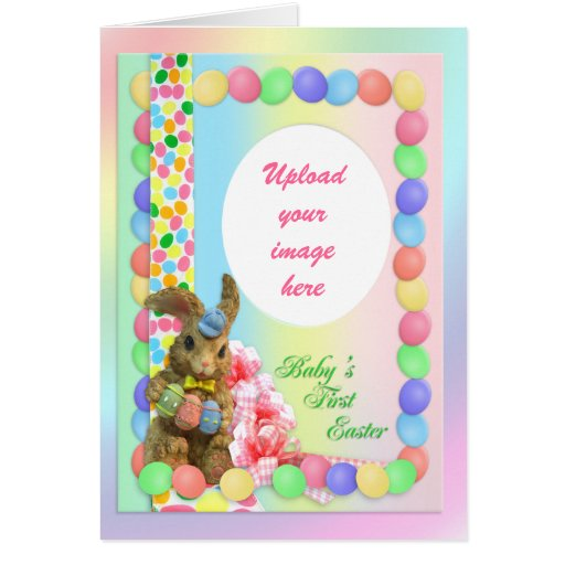Baby's First Easter card with photo