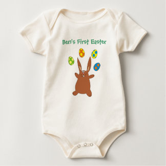 Babys First Easter Personalized Name Bunny Creeper